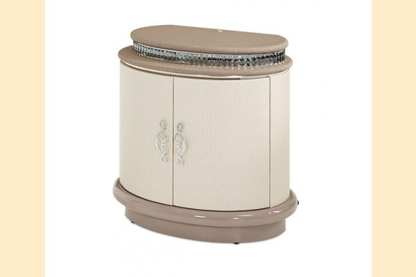 Aico Overture Bedroom Upholstered Nightstand