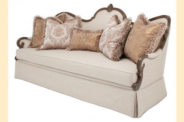 Aico Platine de Royale Wood Trim Sofa Grp 1 Opt 2