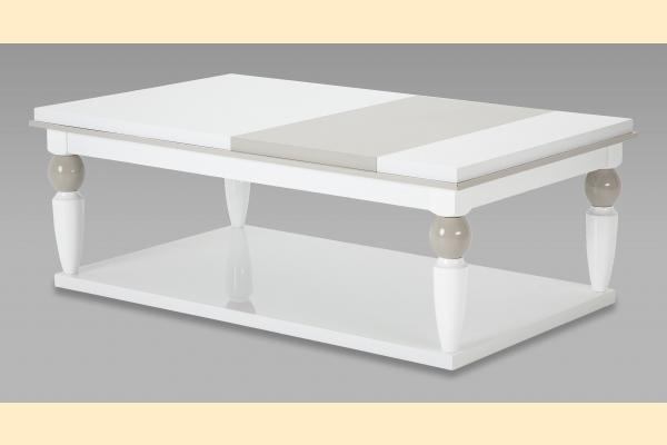 Aico Sky Tower Cocktail Table-White Cloud