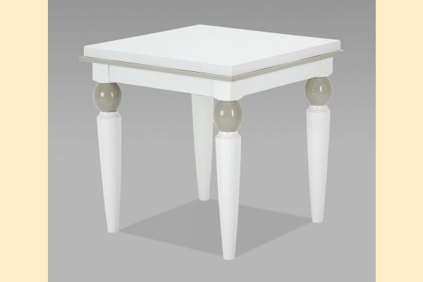 Aico Sky Tower End Table-White Cloud