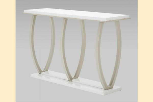 Aico Sky Tower Console Table-White Cloud
