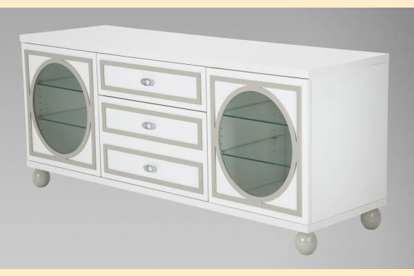 Aico Sky Tower TV Cabinet-White Cloud
