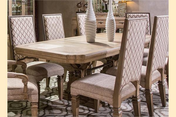 Aico Tangier Coast Rectangular Dining Table w/ One 24 Inch Leaf