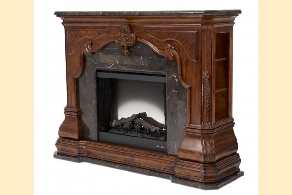 Aico Tuscano-Melange Fireplace w/Electic Insert