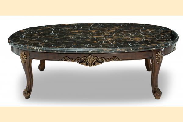 Aico Villa di Como-Portobello Oval Marble Cocktail Table