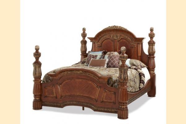 Aico Villa Valencia Cal-King Low Post Bed