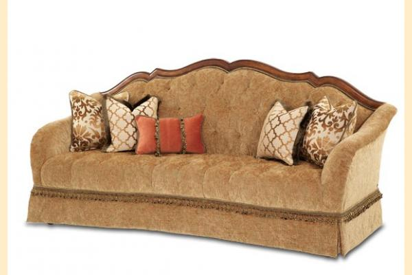 Aico Villa Valencia Wood Trim Tufted Sofa Opt 1
