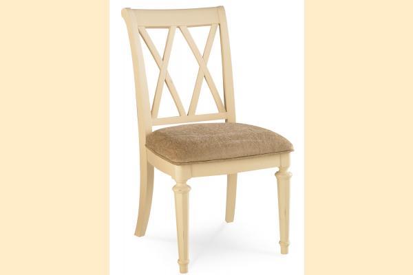American Drew Camden-Antique White Splat Side Chair
