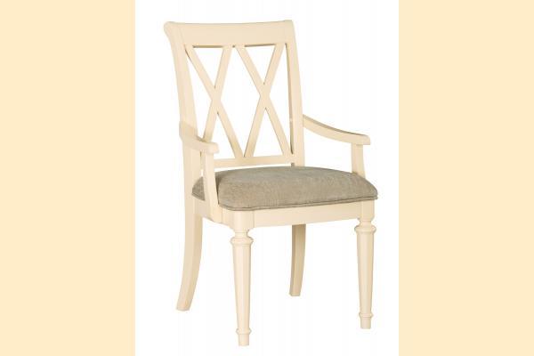 American Drew Camden-Antique White Splat Arm Chair
