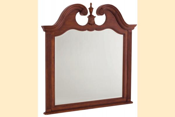 American Drew Cherry Grove Landscape Mirror with Finial