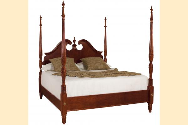 American Drew Cherry Grove King Pediment Poster Bed