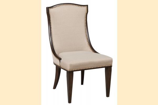 American Drew Grantham Hall Upholstered Side Chair w/ Nail-head Trim
