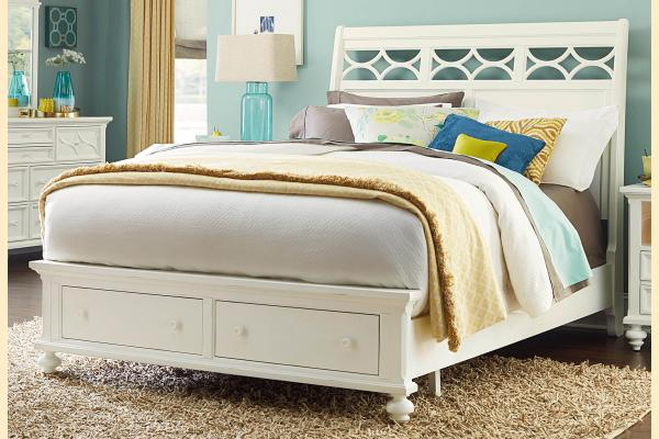 American Drew Lynn Haven King Sleigh Storage Bed