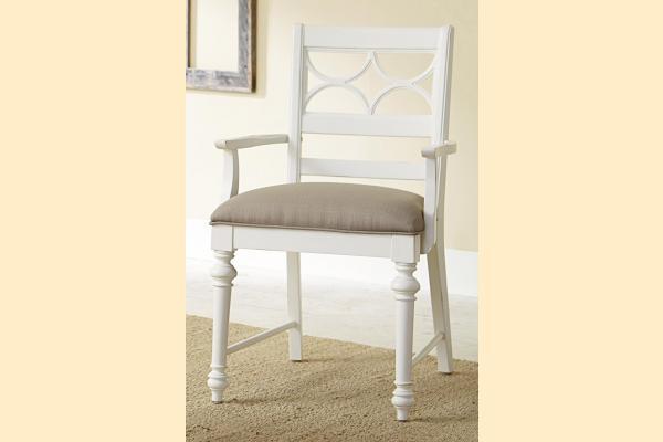 American Drew Lynn Haven Fret Work Arm Chair