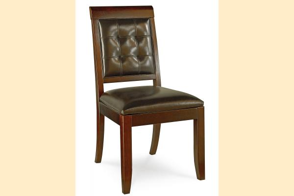 American Drew Tribecca Leather Side Chair