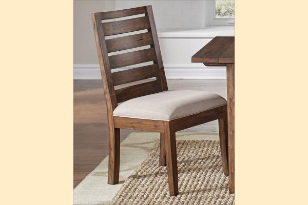 A-America Anacortes Ladderback Upholstered Seat Side Chair