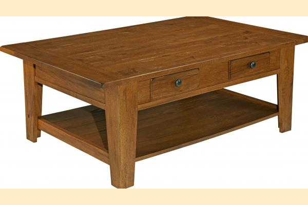 Broyhill Attic Original Oak Occasional Tables Rectangular Cocktail Table