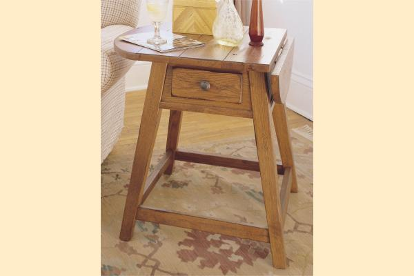 Broyhill Attic Original Oak Occasional Tables Splay Leg End Table