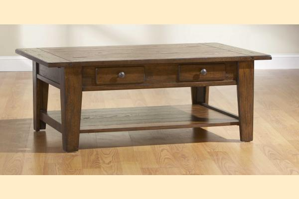 Broyhill Attic Rustic Oak Occasional Tables Rectangular Cocktail Table