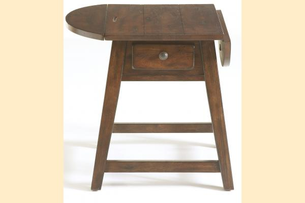 Broyhill Attic Rustic Oak Occasional Tables Splay Leg End Table