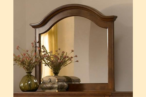 Broyhill Hayden Place-Brown Cherry Arched Mirror