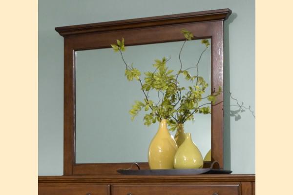 Broyhill Hayden Place-Brown Cherry Landscape Mirror