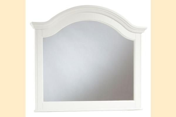 Broyhill Hayden Place-White Arched Dresser Mirror