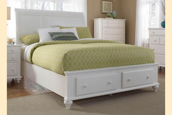 Broyhill Hayden Place-White Queen Sleigh Storage Bed