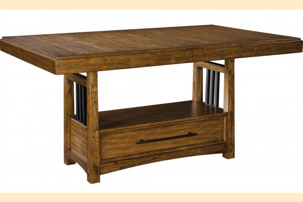 Broyhill Winslow Park Trestle Table w/ 2 16 Inch Leaves