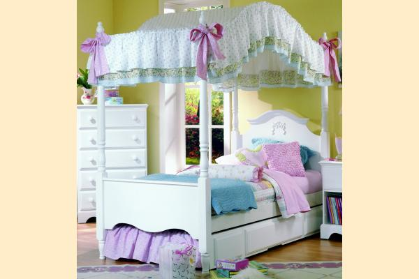 Carolina Furniture Carolina Cottage Twin Princess Bed