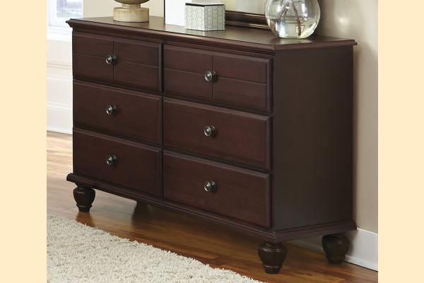 Carolina Furniture Carolina Craftsman - Espresso Double 6 Drawer Dresser