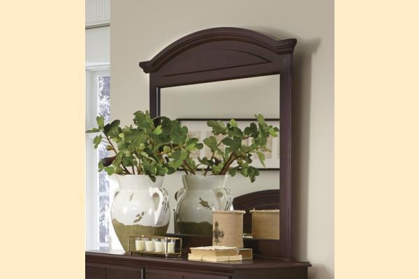 Carolina Furniture Carolina Craftsman - Espresso Arched Landscape Mirror