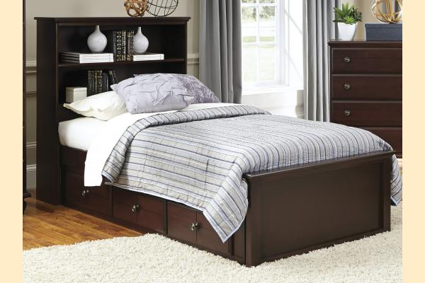 Carolina Furniture Carolina Craftsman - Espresso Twin Bookcase Bed with One Sided Storage Unit