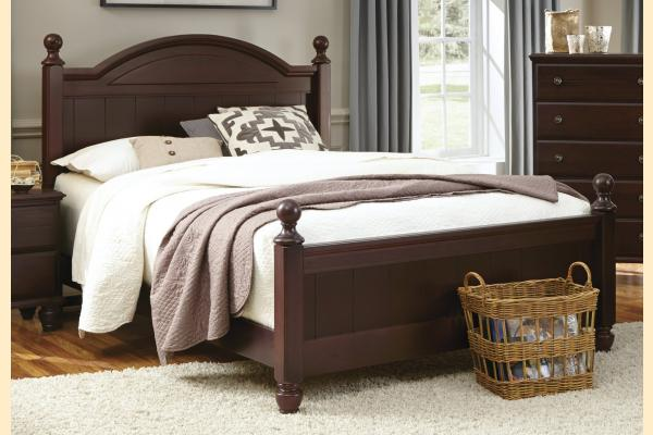 Carolina Furniture Carolina Craftsman - Espresso Queen Arched Panel Bed