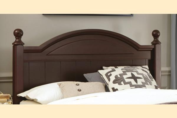 Carolina Furniture Carolina Craftsman - Espresso King Arched Panel Headboard and Bed Frame
