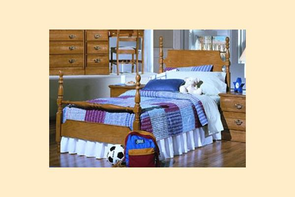 Carolina Furniture Carolina Oak Twin Poster Bed
