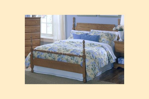 Carolina Furniture Carolina Oak Full Poster Bed