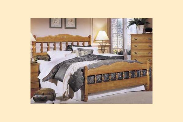 Carolina Furniture Carolina Oak Full Spindle Bed