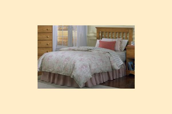 Carolina Furniture Carolina Oak Twin Slat Headboard and Frame
