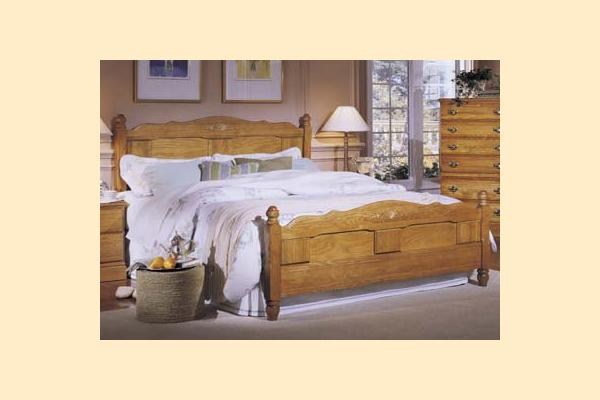 Carolina Furniture Carolina Oak Queen Panel Bed