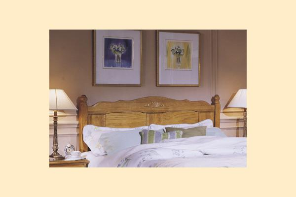 Carolina Furniture Carolina Oak King Panel Headboard and Bed Frame