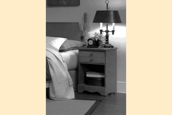 Carolina Furniture Common Sense Cherry One Drawer Nightstand