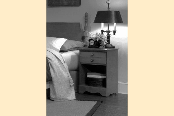 Carolina Furniture Common Sense Cherry One Drawer Nightstand