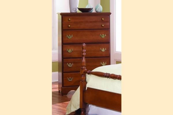 Carolina Furniture Common Sense Cherry Five Drawer Chest