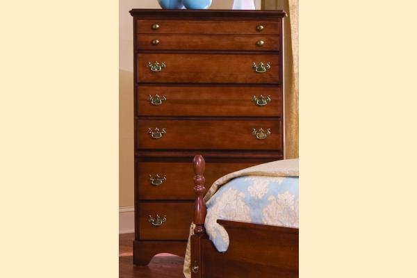 Carolina Furniture Common Sense Cherry Six Drawer Chest