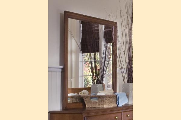 Carolina Furniture Common Sense Cherry DD Landscape Mirror