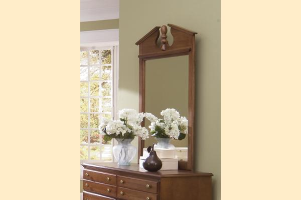 Carolina Furniture Common Sense Cherry Vertical Mirror