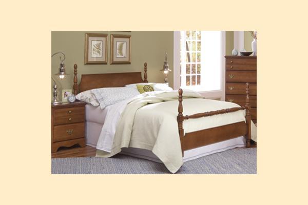 Carolina Furniture Common Sense Cherry Full Poster Bed