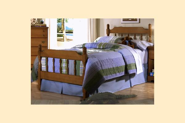 Carolina Furniture Common Sense Cherry Twin Spindle Bed