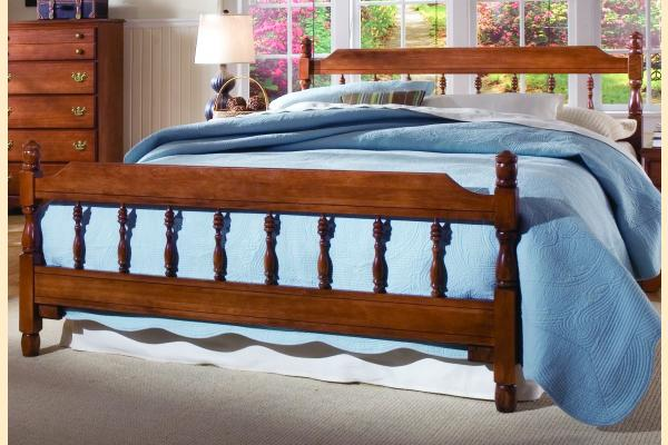 Carolina Furniture Common Sense Cherry Queen Spindle Bed